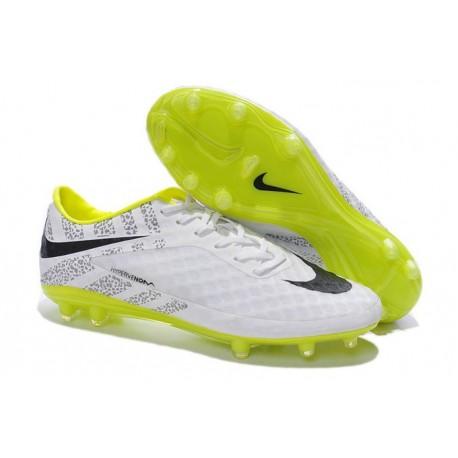 Neymar's Nike HyperVenom Phantom FG ACC Cleats White Volt Black