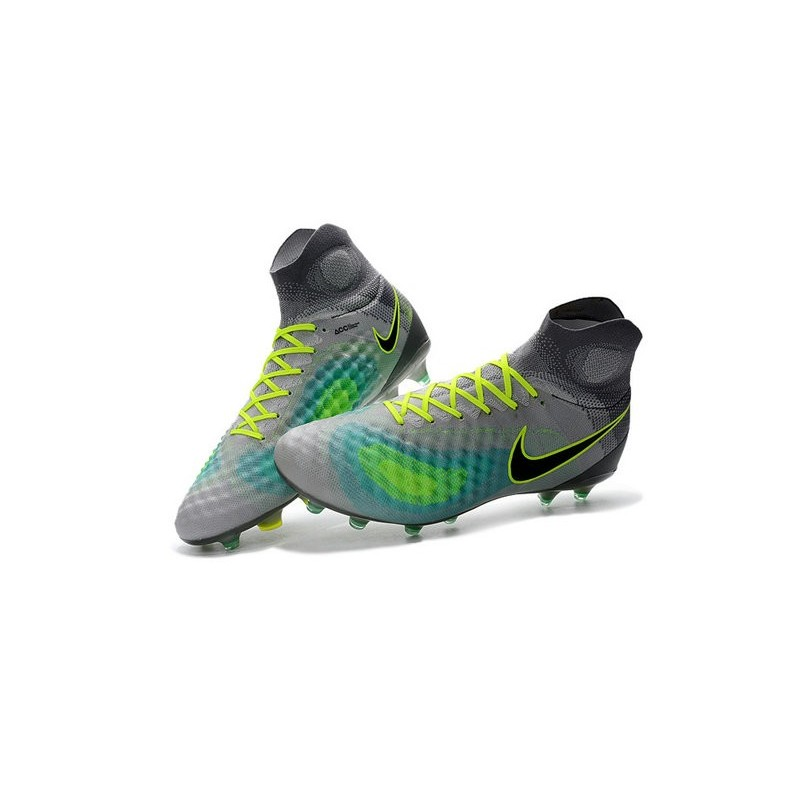 outlet store eb4b7 bbd08 ... real new 2016 nike magista obra ii fg acc soccer cleats grey blue black  1f02e c12b9