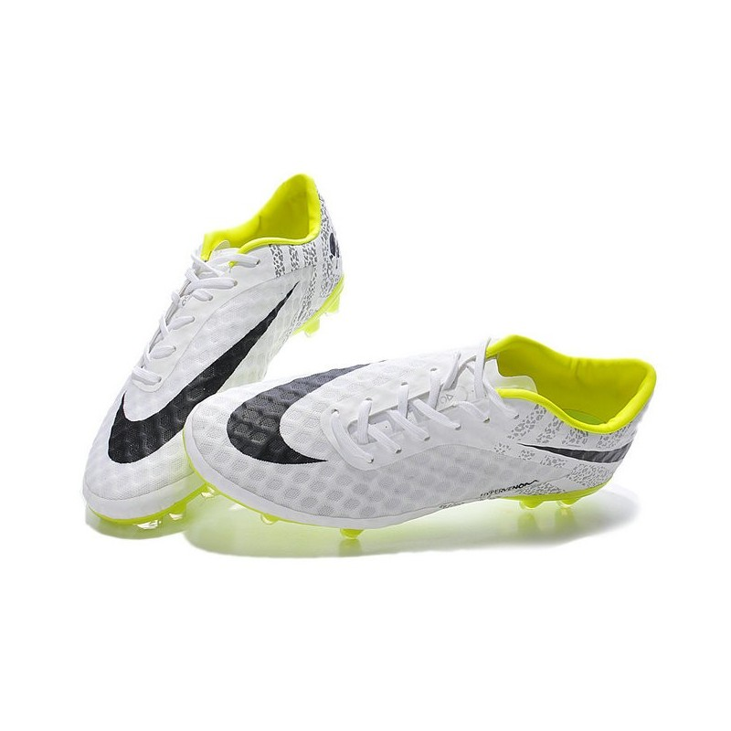 Neymar's Nike HyperVenom Phantom FG ACC Cleats White Volt Black