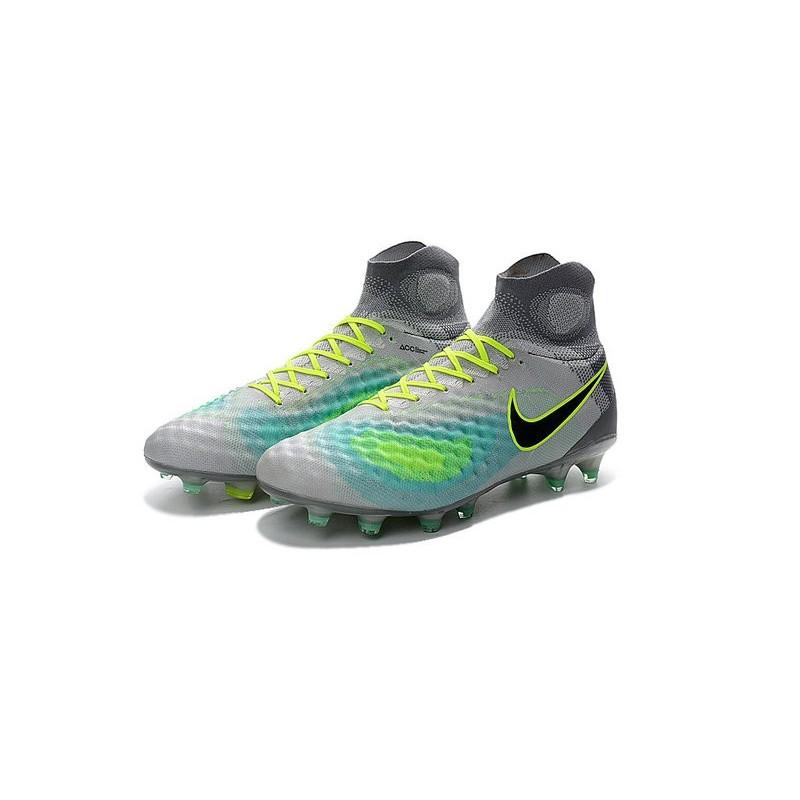 New 2016 Nike Magista Obra II FG ACC Soccer Cleats Grey Blue Black