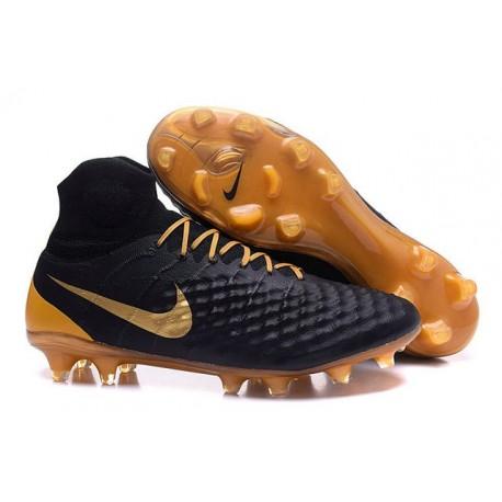 New Nike Magista Obra II FG ACC Soccer Cleats Black Gold a1dc3bf7d5f64