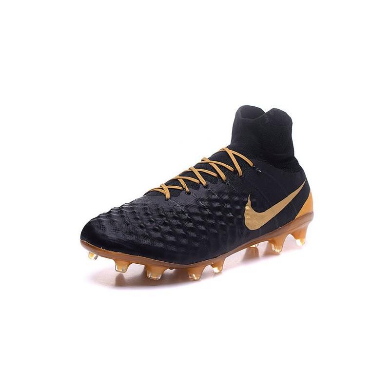 New Nike Magista Obra II FG ACC Soccer Cleats Black Gold