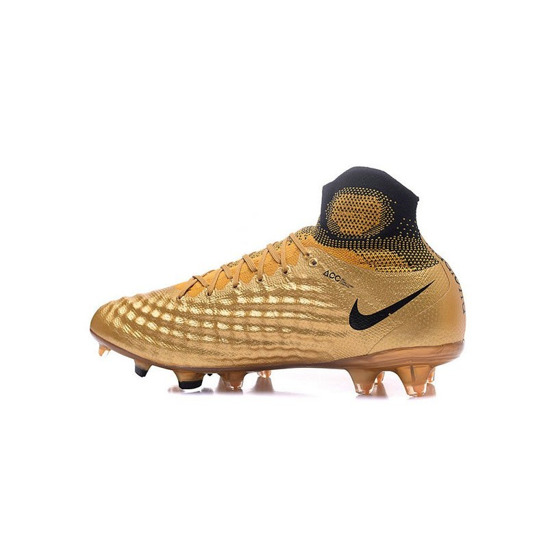 New Nike Magista Obra II FG ACC Soccer Cleats Golden Black