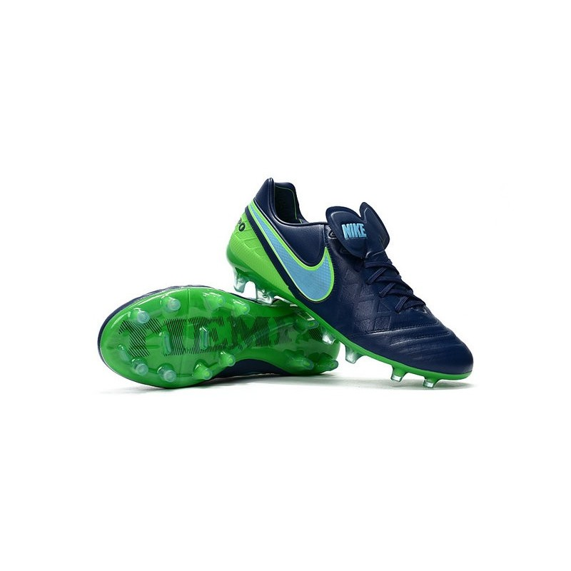 Nike Tiempo Legend VI FG ACC K-Leather Football Cleat Black Green
