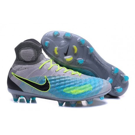 Nike Magista Obra 2 FG Mens Top Football Shoes Grey Blue Black