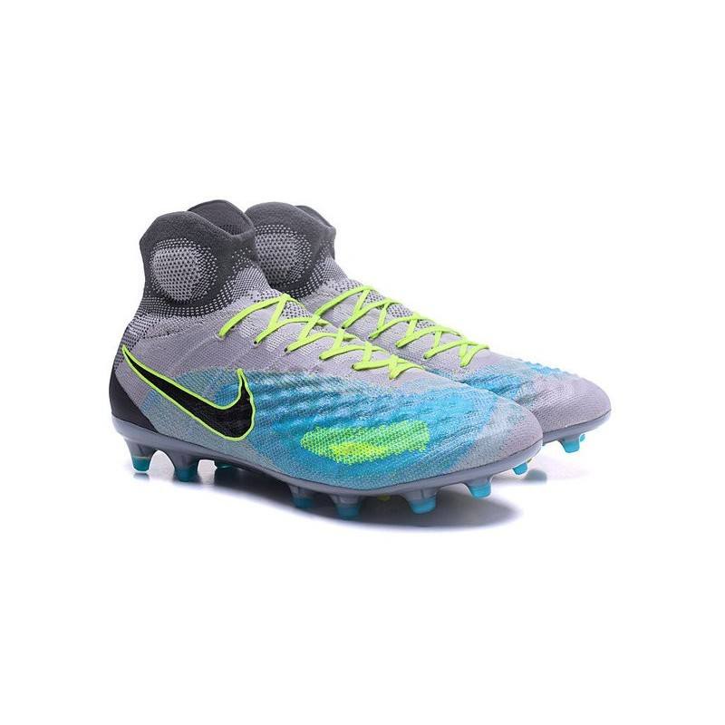 Nike Magista Obra 2 FG Mens Top Football Shoes Grey Blue Black