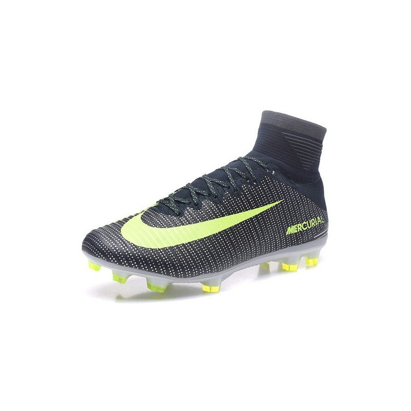 New Nike Mercurial Superfly 5 CR7 FG Firm Ground Football Cleats Seaweed Volt Hasta