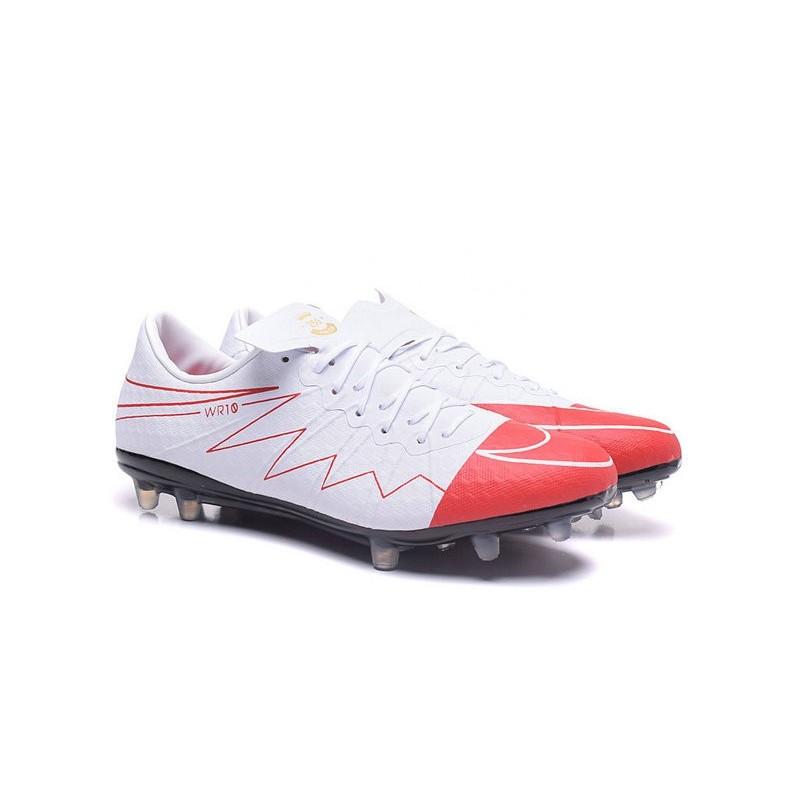 Nike Hypervenom Phinish FG ACC Wayne Rooney White Red Soccer Cleats