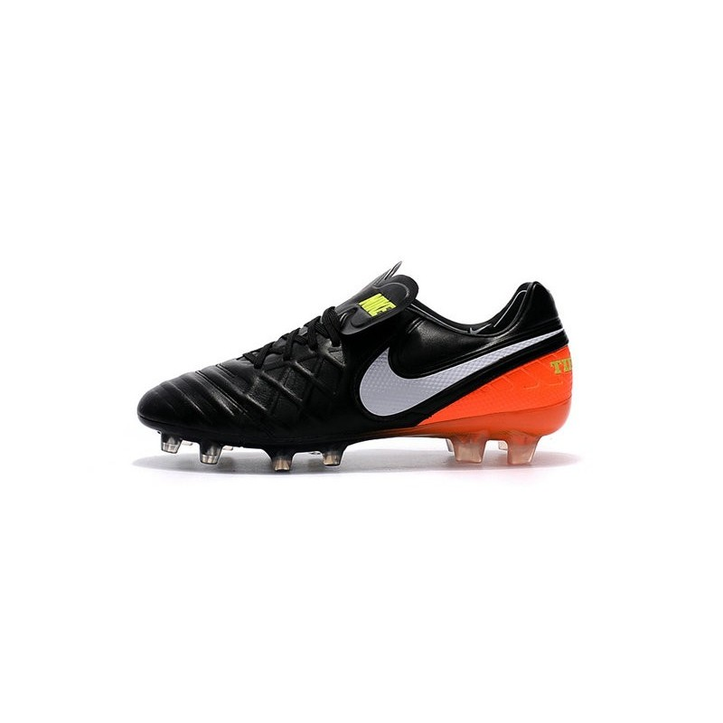Nike Tiempo Legend 6 FG Firm Ground Soccer Boots Black Orange White
