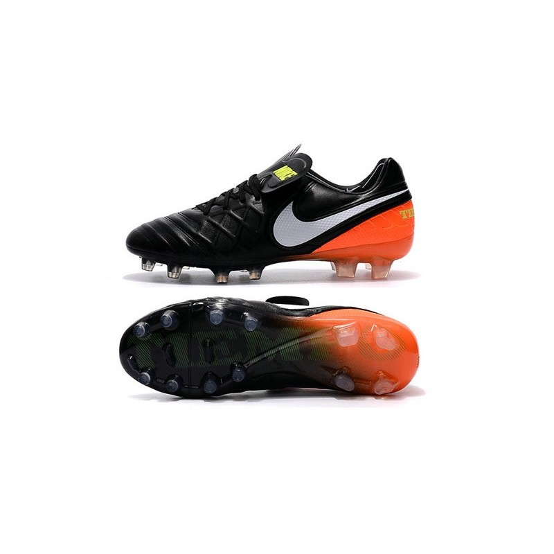 meet 0b235 d3f93 Nike Tiempo Legend 6 FG Firm Ground Soccer Boots Black Orange White