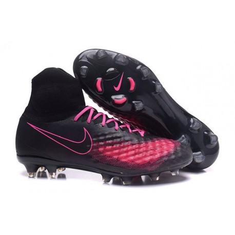 Nike Magista Obra 2 FG Mens Top Football Shoes Black Pink