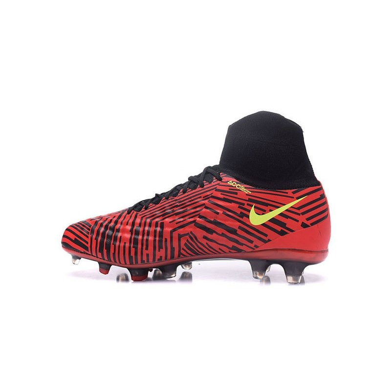 Nike Magista Obra 2 FG Mens Top Football Shoes Red Black Yellow