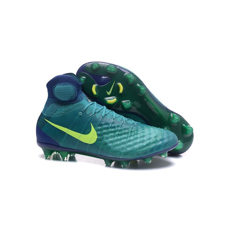 Nike Magista Obra II FG Firm Ground Soccer Cleat Jade Volt Obsidian