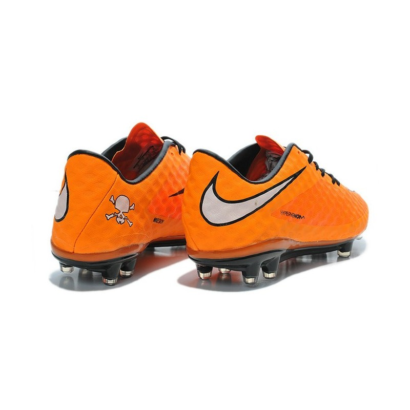Neymar's Nike HyperVenom Phantom FG ACC Cleats Orange White
