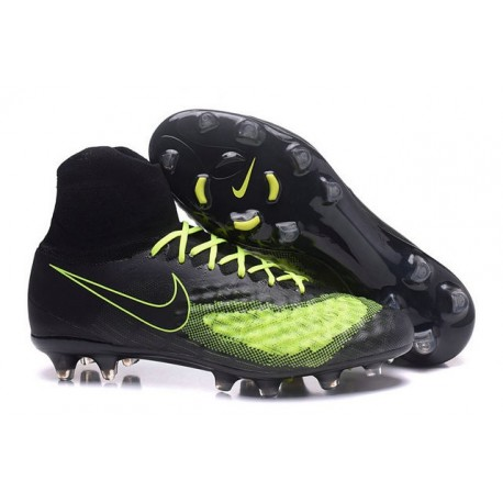 Nike Magista Obra II FG Firm Ground Soccer Cleat Black Yellow