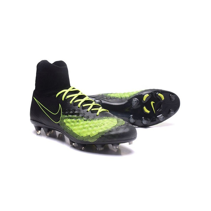 Nike Magista Obra II FG Firm Ground Soccer Cleat Black Yellow