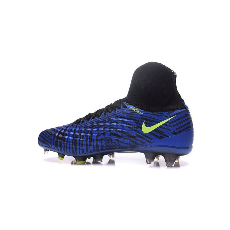 Nike Magista Obra II FG Firm Ground Soccer Cleat Blue Black Volt