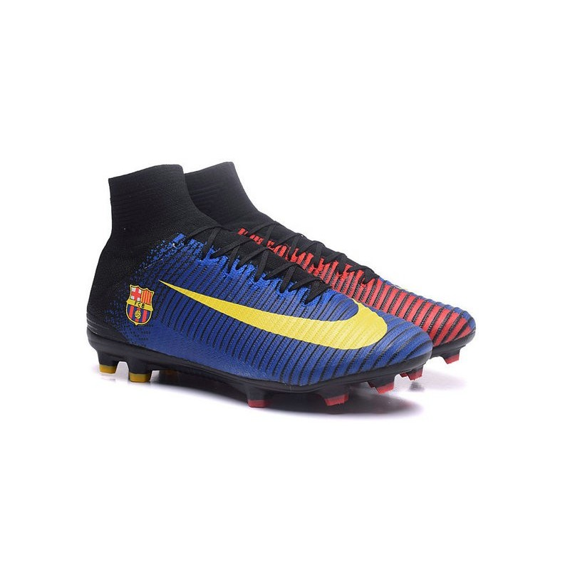 New Nike Mercurial Superfly 5 FG Firm Ground Football Cleats Barcelona FC Blue