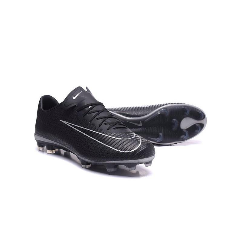 Nike Mercurial Vapor XI FG Firm Ground Soccer Shoes Black White
