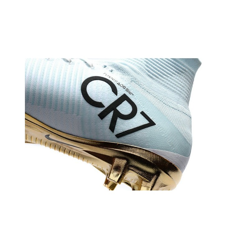 save off f361f 6508a Nike Mercurial Superfly CR7 Vitórias V FG Soccer Boot White Gold