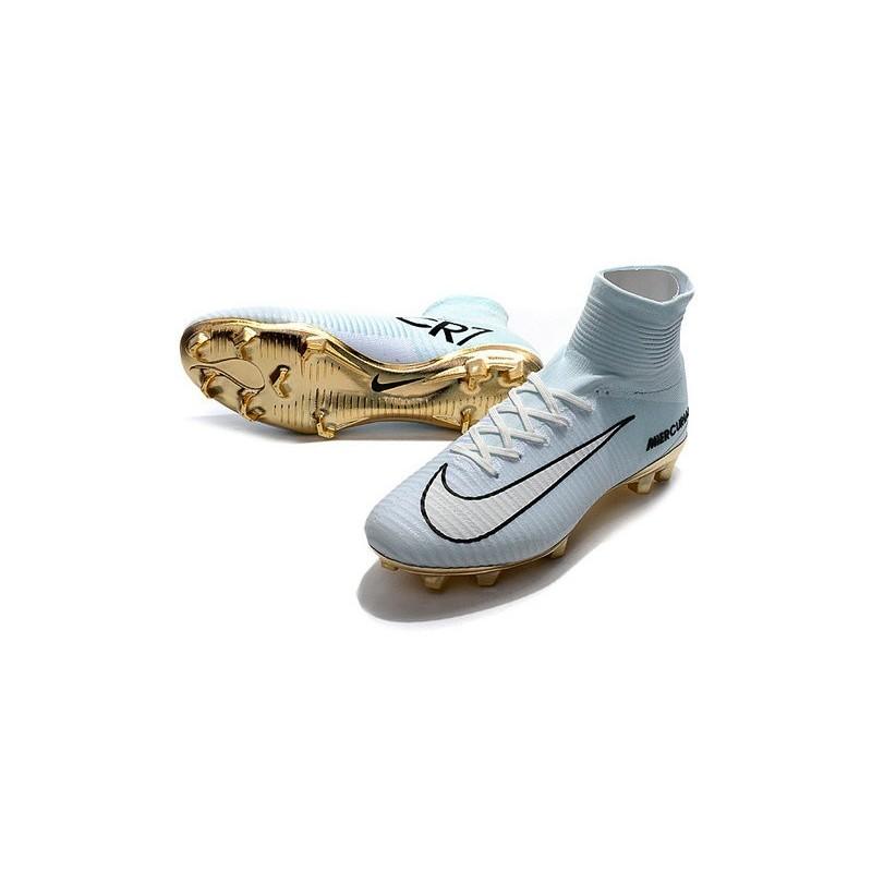 cbe6cd46e Nike Mercurial Superfly CR7 Vitórias V FG Soccer Boot White Gold