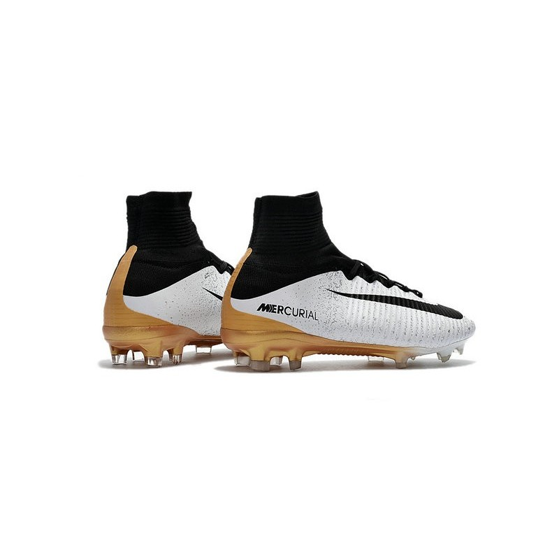 Nike News Mercurial Superfly 5 FG ACC Soccer Cleat White Black Gold