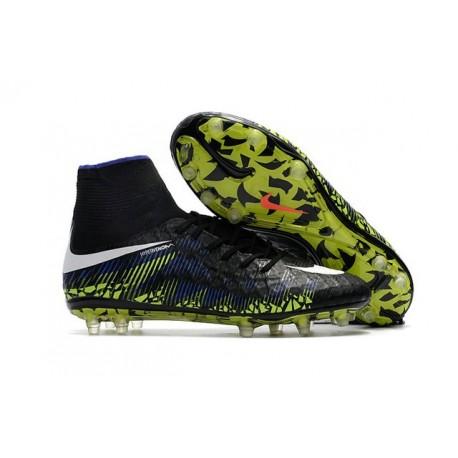 Nike Hypervenom Phantom 2 New Soccer Cleats Black Blue Green