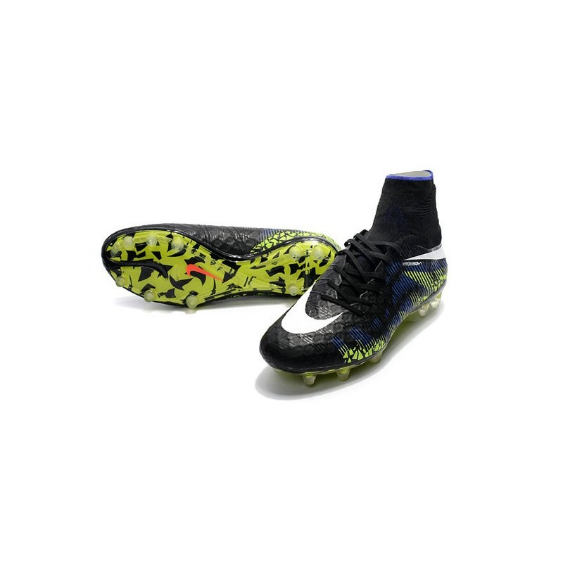 Nike Hypervenom Phantom 2 New Soccer Cleats Black Blue Green