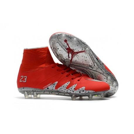 2d9bc2a9416 Nike Hypervenom Phantom 2 New Soccer Cleats Neymar Jordan NJR Red Silver