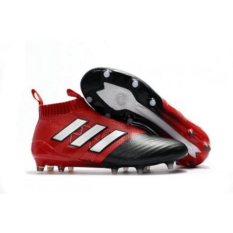official photos da300 5588a adidas ACE 17+ Purecontrol FG Men Soccer Cleats Red White Bl