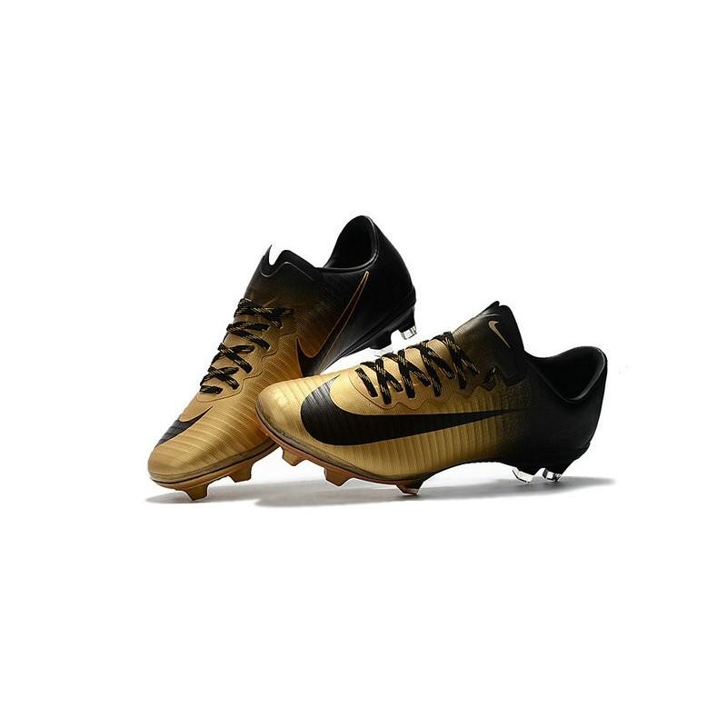 b9b7a44e5 New Ronaldo Nike Mercurial Vapor XI FG Soccer Cleats Golden Black Maximize.  Previous. Next