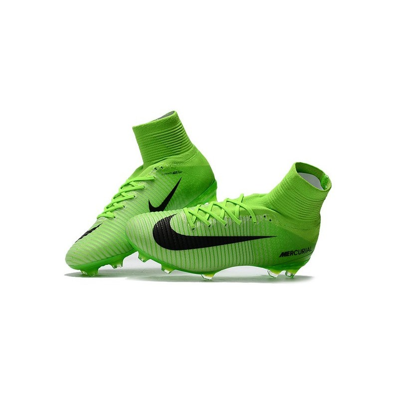 Nike News Mercurial Superfly 5 FG ACC Soccer Cleat Green Black