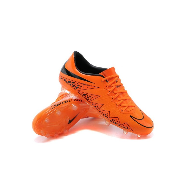 New 2015 Nike Hypervenom Phinish II FG ACC Shoes Orange Black