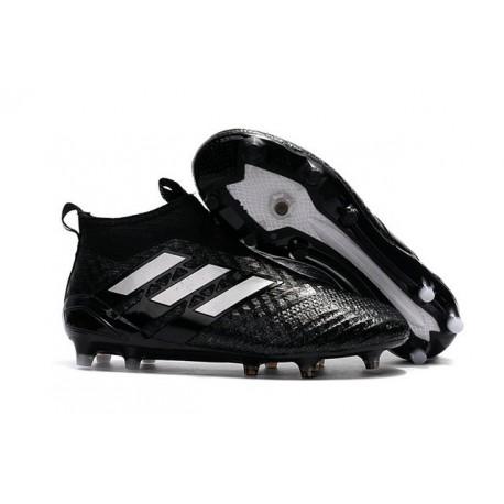 reputable site 430cd e4673 adidas ACE 17+ Purecontrol FG Men Soccer Cleats Black White