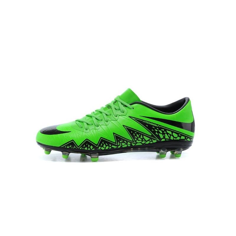 New 2015 Nike Hypervenom Phinish II FG ACC Shoes Green Black