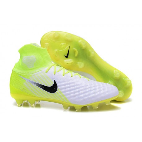 Nike Magista Obra 2 FG New Soccer Boots White Yellow