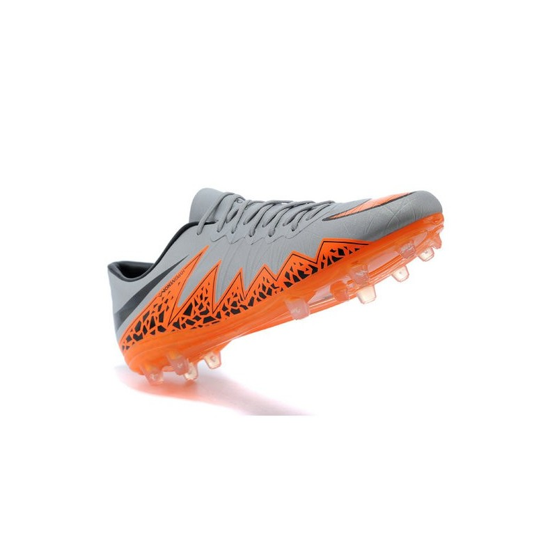 New 2015 Nike Hypervenom Phinish II FG ACC Shoes Grey Orange
