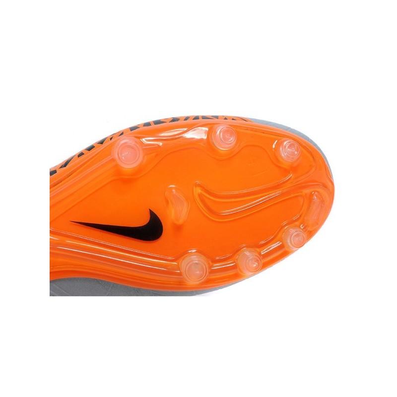 New 2015 Nike Hypervenom Phinish II FG ACC Shoes Grey Orange