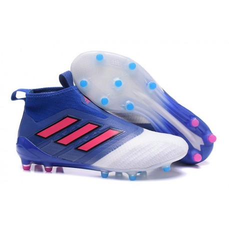 adidas ACE 17+ Purecontrol FG Men Soccer Cleats Blue Red White