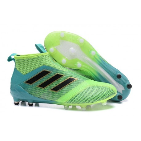 buy popular d6a45 fcd40 adidas ACE 17+ Purecontrol FG Firm Ground Boot -Green Blue B