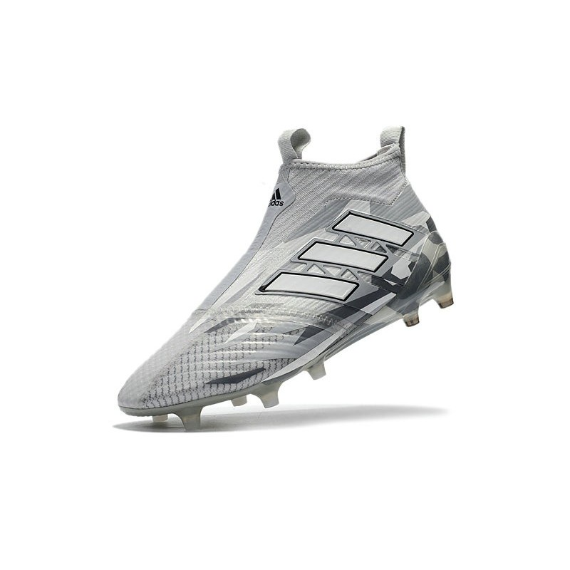 size 40 62374 51b45 adidas ACE 17+ Purecontrol FG Firm Ground Boot - Grey White