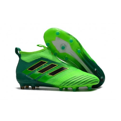 adidas ACE 17+ Purecontrol FG Firm Ground Boot - Solar Green Black