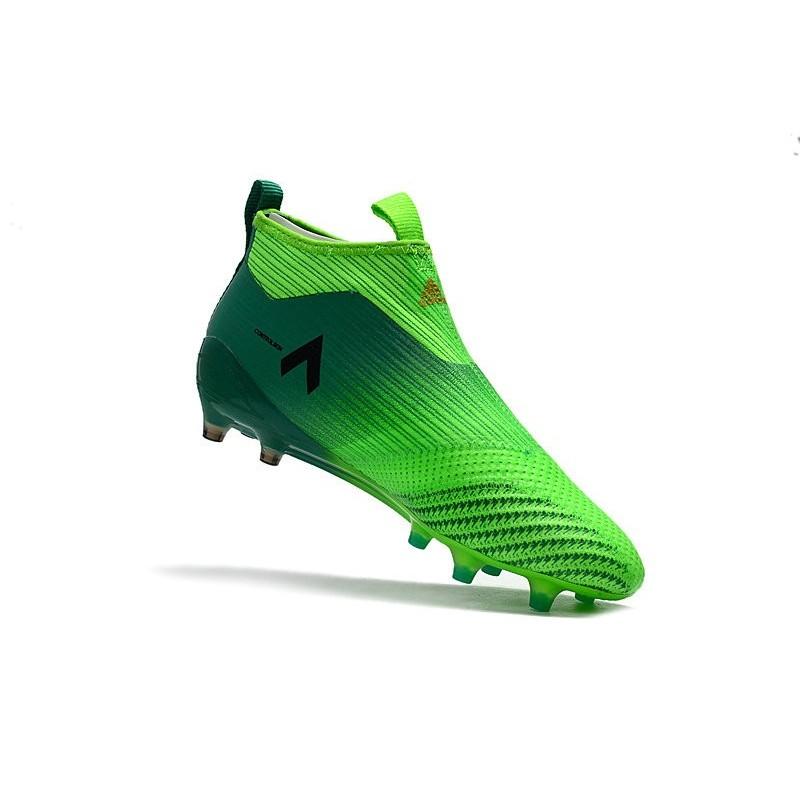 immagini dettagliate stili classici super economico adidas ACE 17+ Purecontrol FG Firm Ground Boot - Solar Green Black
