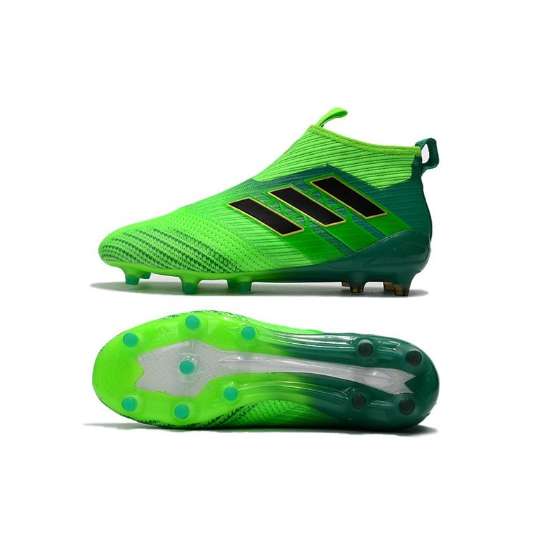 best service 90b41 d0dc3 adidas ACE 17+ Purecontrol FG Firm Ground Boot - Solar Green Black  Maximize. Previous. Next