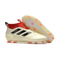 adidas ACE 17+ Purecontrol FG Mens 2017 Soccer Cleats White Red Black
