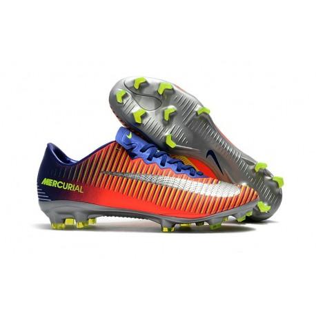 2ed0630e91aefb Nike Mercurial Vapor 11 FG Firm Ground Men Football Shoes Royal Blue Chrome  Crimson