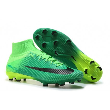 New Nike Mercurial Superfly 5 FG Firm Ground Soccer Cleats - Green Black