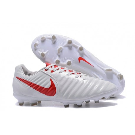 e73672c4b Nike Tiempo Legend VII FG 2017 Leather Soccer Cleats - White Red