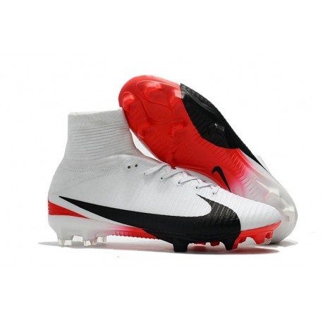 7c1463a957b New Nike Mercurial Superfly 5 FG Firm Ground Soccer Cleats - White Black Red