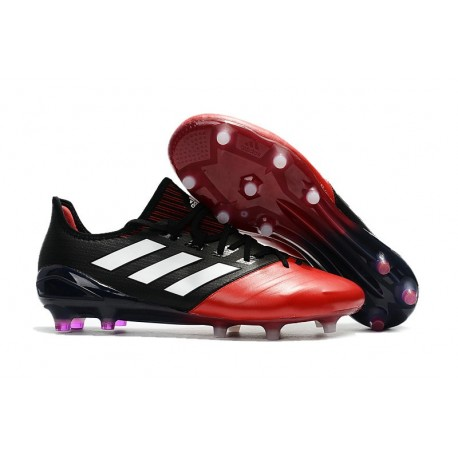 new lifestyle dirt cheap cute adidas Ace 17.1 Leather FG Soccer Cleats - Black Red White